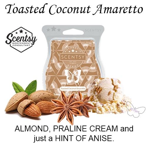 Toasted Coconut Amaretto Scentsy Bar