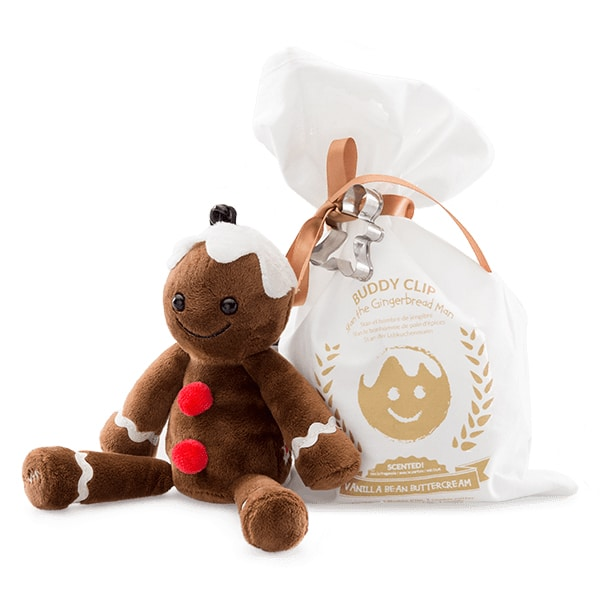 Stan the Gingerbread Man + Vanilla Bean Buttercream Fragrance Buddy Clip
