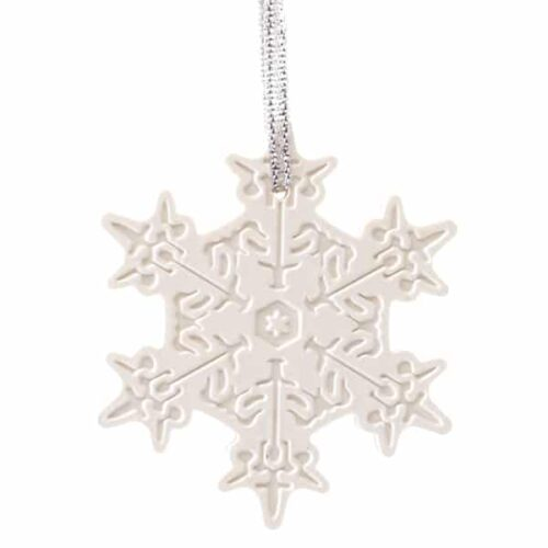 Very Snowy Spruce Porcelain Ornament