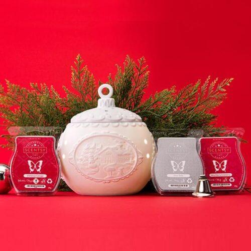 Scentsy Christmas Cottage Warmer Bundle