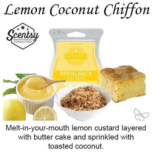 Lemon Coconut Chiffon Scentsy Bar