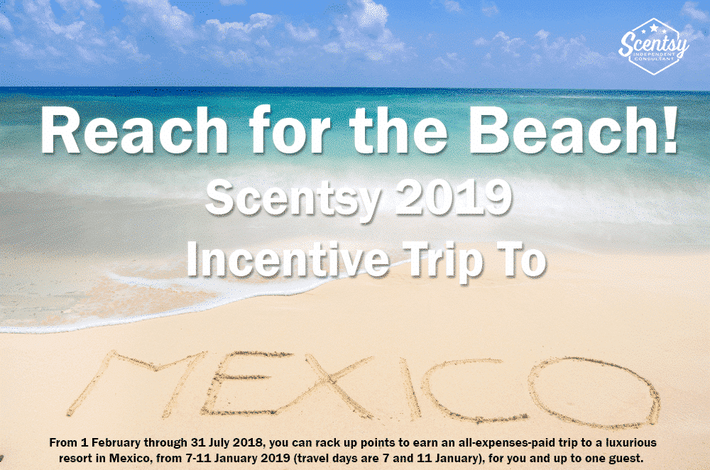 it s time to reach for the beach scentsy 2019 incentive