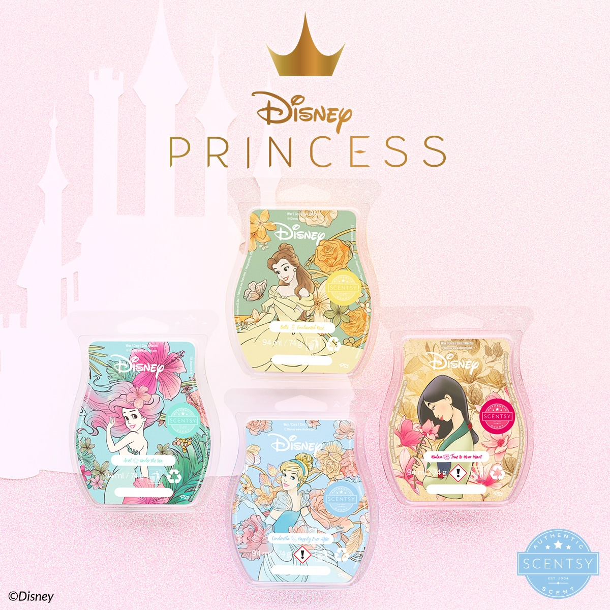Share a little Scentsy magic with your favourite Disney Princess! Bring home our four new Disney Princess fragrances as part of The Disney Collection!