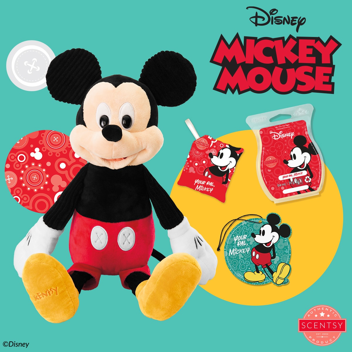 Our Mickey Mouse – Scentsy Buddy arrives 1 September as part of The Disney Collection, complete with his very own Scentsy fragrance, Your Pal, Mickey!