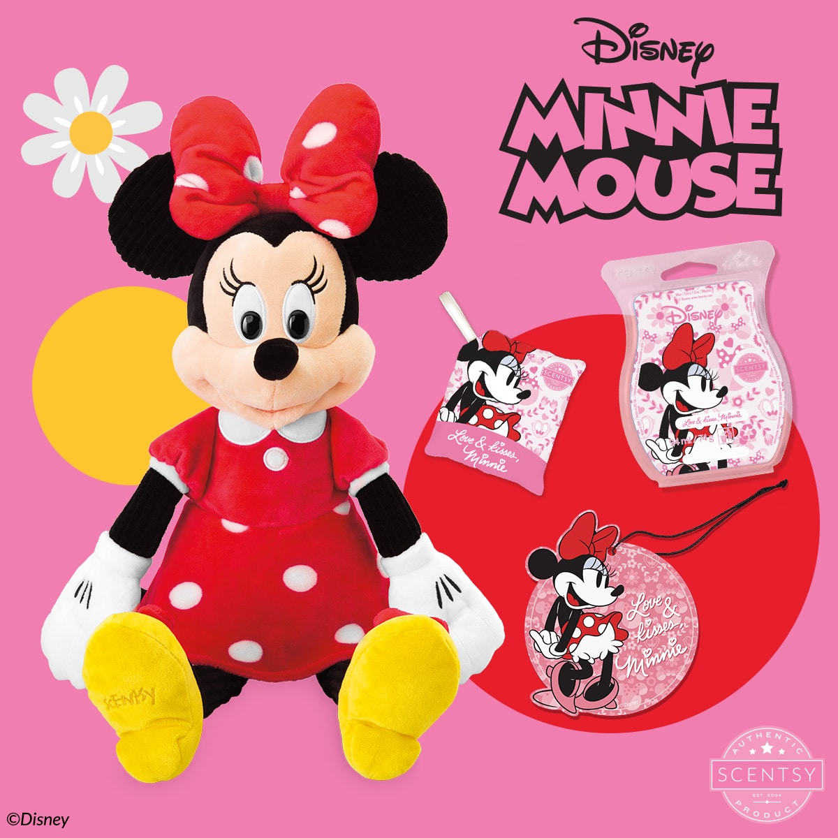 Our Minnie Mouse – Scentsy Buddy arrives 1 September as part of The Disney Collection, complete with her very own Scentsy fragrance, Love & Kisses, Minnie!