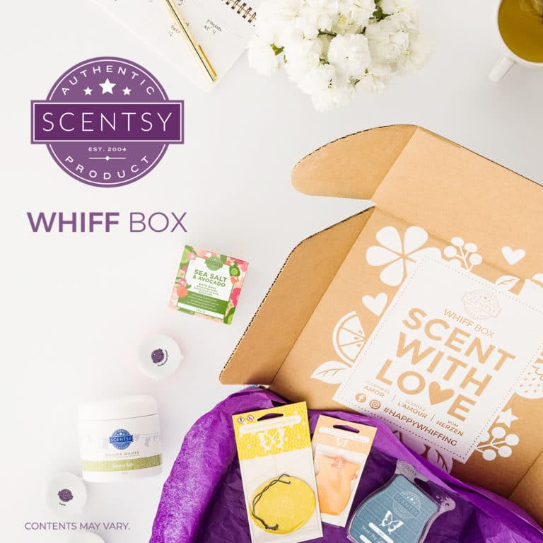 Scentsy Whiff Box, inspired by YOU! Coming 1 September.
