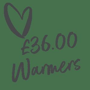 £36.00 Warmers