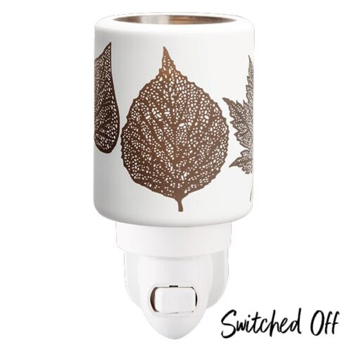 Amber-Leaves-Mini-Warmer-Switched-Off