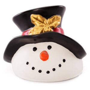 Build A Snowman Dish And Lid