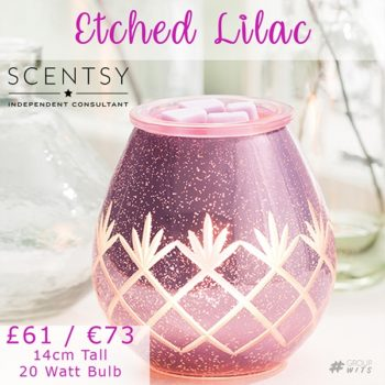Scentsy Etched Lilac