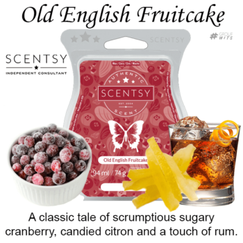 Old English Fruitcake Scentsy Scented Wax Bar