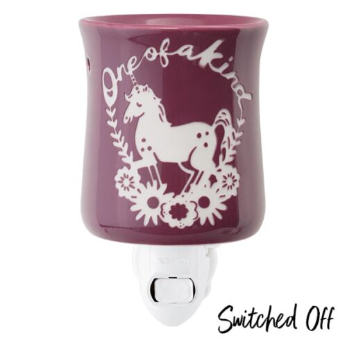 One of a Kind Unicorn Scentsy Plugin Mini Warmer Switched Off