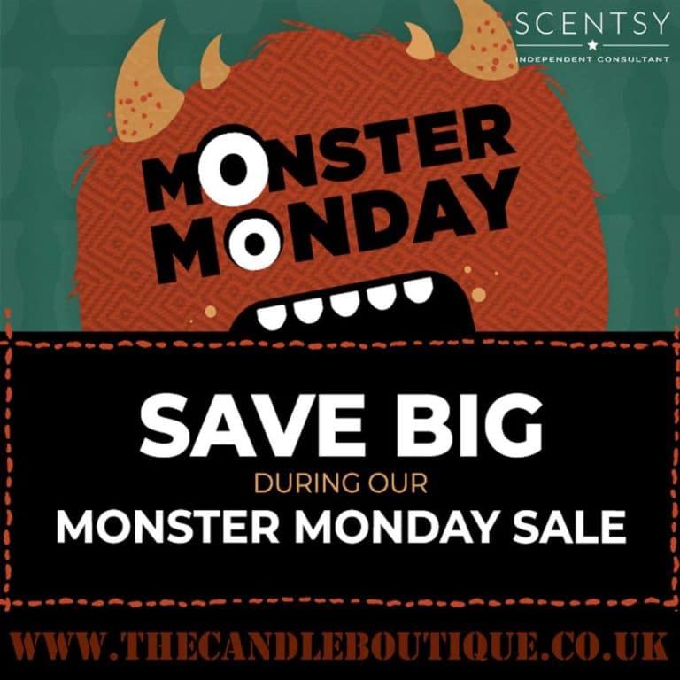 Scentsy Monster Monday Flash Sale – Starts 8 p.m. BST Monday 15 October