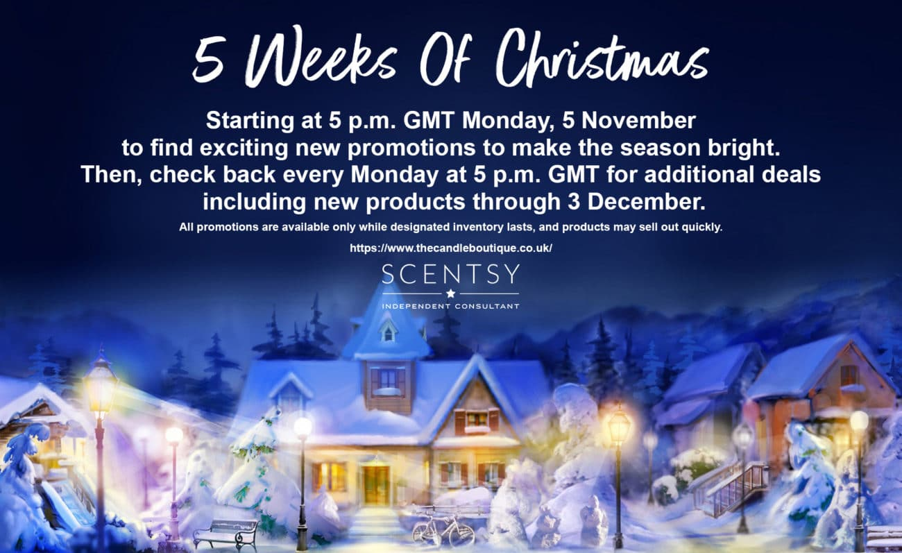 Scentsy UK 5 Weeks Of Christmas Special Offers 2018