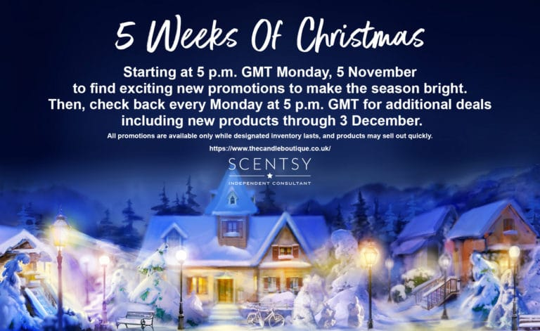 Scentsy 5 Weeks Of Christmas Deals Every Monday