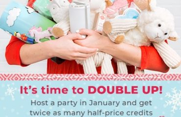 Host a party in January and get twice as many half price credits
