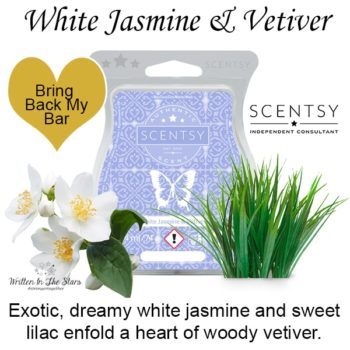 White Jasmine and Vetiver Scentsy Wax Bar