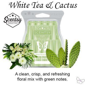 White Tea and Cactus Scentsy Wax Bar