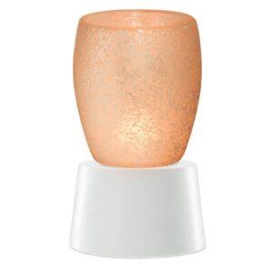 Cream Glass Mini Warmer with Tabletop Base