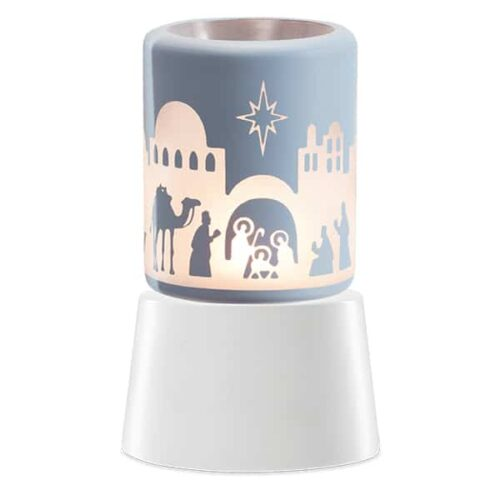 Holy Night Scentsy Plugin Mini Warmer With Tabletop Base