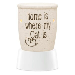 Home Is Where My Cat Is Mini Warmer with Tabletop Base
