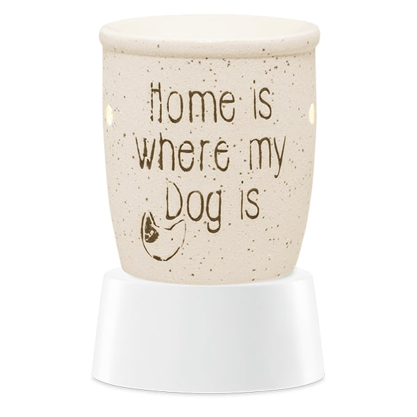 Home Is Where My Dog Is Mini Warmer with Tabletop Base