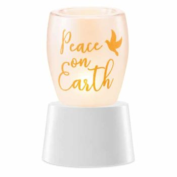 Peace On Earth Mini Warmer With Tabletop Base