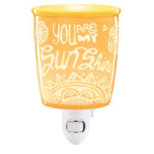 You Are My Sunshine Plugin Scentsy Mini Warmer with Wall Plug