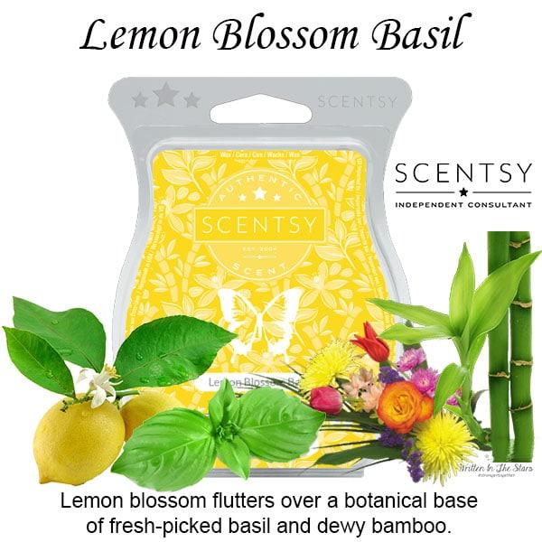 Lemon Blossom Basil Scentsy Wax Melt