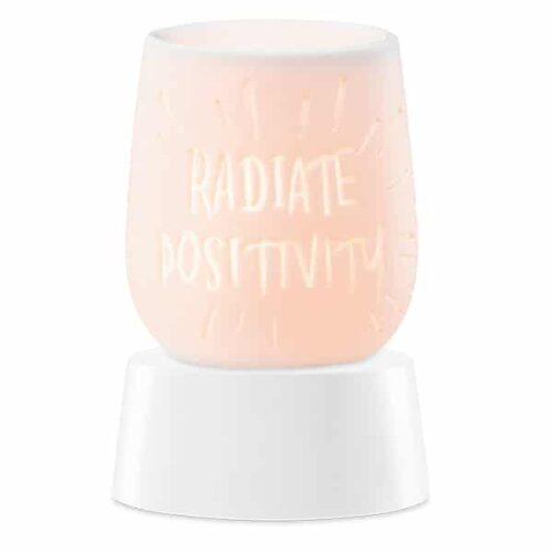Radiate Positivity Mini Warmer with Tabletop Base