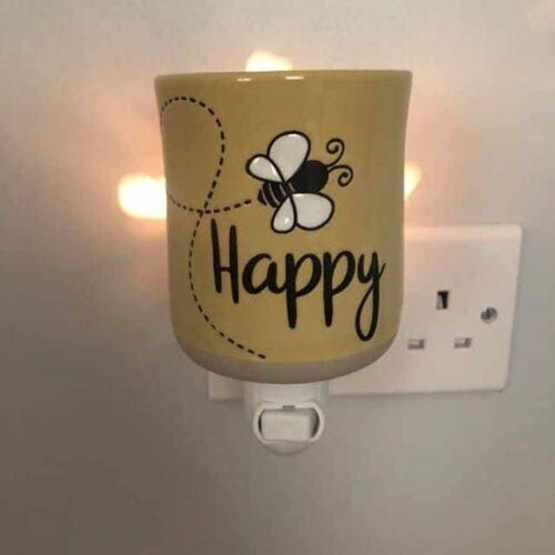 Scentsy Bee Happy Mini Warmer with Wall Plug