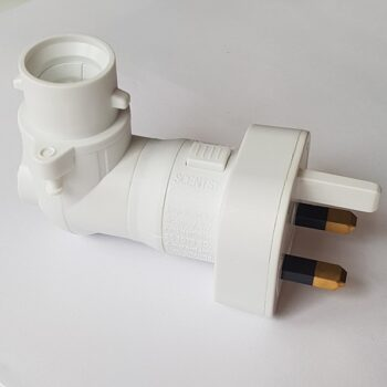 Scentsy Plugin Mini Base For Ceramic Shade UK 3-Pin Plug