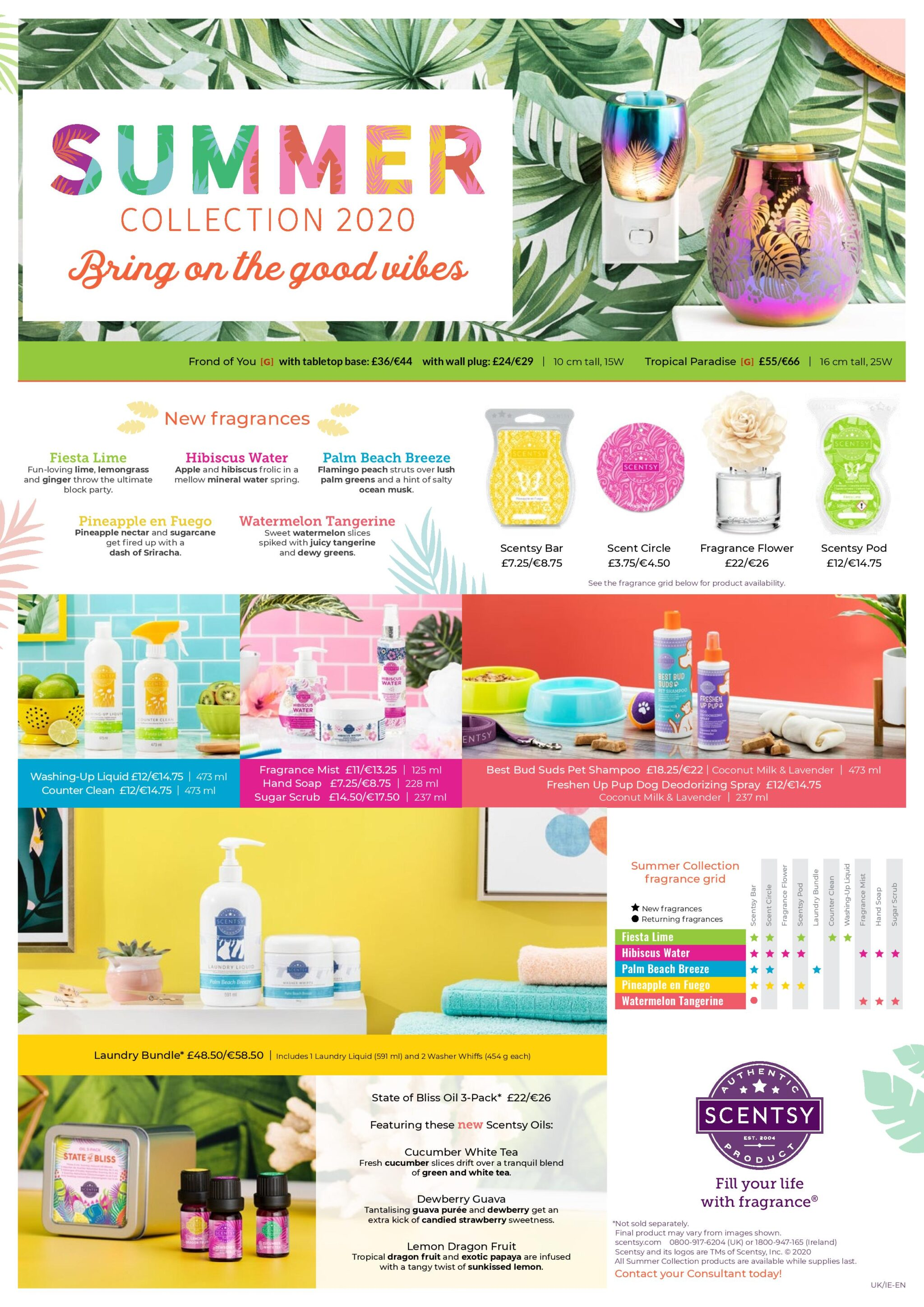 Scentsy Uk 2020 Summer Collection The Candle Boutique Scentsy Uk Consultant