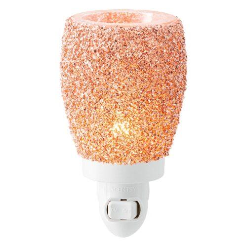 Glitter Rose Gold Scentsy Plugin Mini Warmer