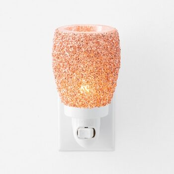 Glitter Rose Gold Scentsy Plugin Mini Warmer On