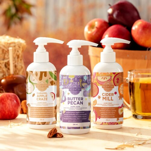 2020 Scentsy Harvest Hand Soap 3 Pack Bundle