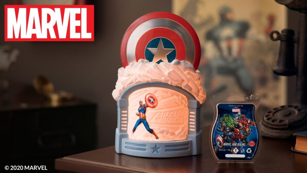 Command attention with the Captain America – Scentsy Warmer