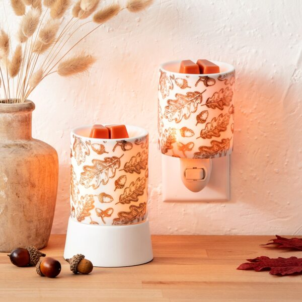 Fall Foliage Scentsy Mini Warmer With Tabletop Base