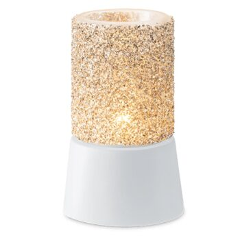Glitter Silver Mini Warmer with Tabletop Base