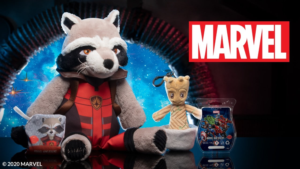 Scentsy Rocket and Groot Buddies