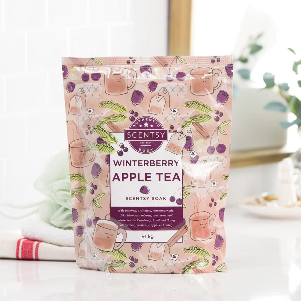 Winterberry Apple Tea Scentsy Bath Soak