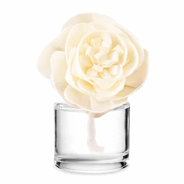 Buttercup Belle Fragrance Flower with Christmas Cottage