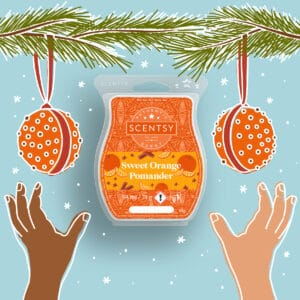 Sweet Orange Pomander Home for the Holidays 2021 Scentsy Wax Collection