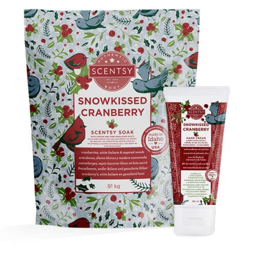 Scentsy Holiday Body Bundle Snowkissed Cranberry