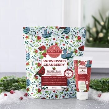 Scentsy Holiday Body Bundle Snowkissed Cranberry Styled