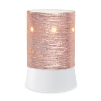 Etched Core Rose Gold Mini Scentsy Table Top Warmer