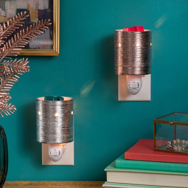 Etched Core – Silver & Gold Mini Plugin Scentsy Warmer