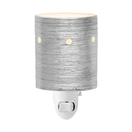 Etched Core – Silver Mini Plugin Scentsy Warmer