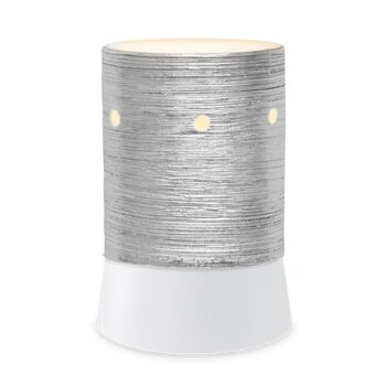 Etched Core – Silver Mini Table Top Scentsy Warmer