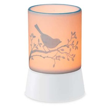Bluebird Scentsy Mini Warmer With Tabletop Base